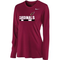 Ione 21: Nike Women's Legend Long-Sleeve Training Top - Cardinal