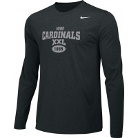 Ione 16: Adult-Size - Nike Team Legend Long-Sleeve Crew T-Shirt - Black