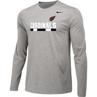 Ione 16: Adult-Size - Nike Team Legend Long-Sleeve Crew T-Shirt - Gray