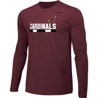 Ione 19: Adult-Size - Nike Team Legend Long-Sleeve Crew T-Shirt - Cardinal