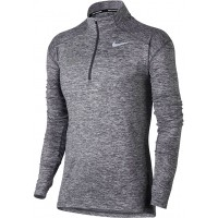 Ione 30: Nike Element Women's Long Sleeve Running Half-Zip Top - Gray