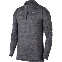 Ione 29: Nike Element Men's Long Sleeve Running Top - Gray