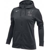 Ione 28: Nike Women's Therma All-Time Hoodie Full Zip - Anthracite Gray